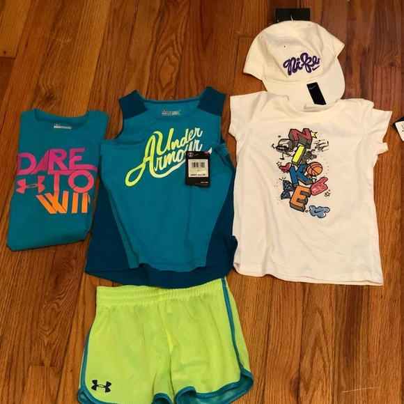 c3516262d4476 Girl's UA & Nike Bundle Tee & Shorts (4 & 4T) NWT